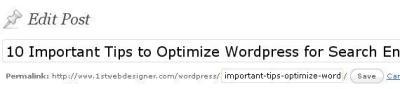 Edit Permalink URL WordPress