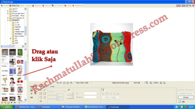 tutorial photoscape edit foto memberi stempel, tutorial badge ninja saga