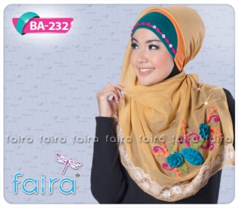 jilbab faira BA-232, kerudung cantik, jilbab segiempat faira